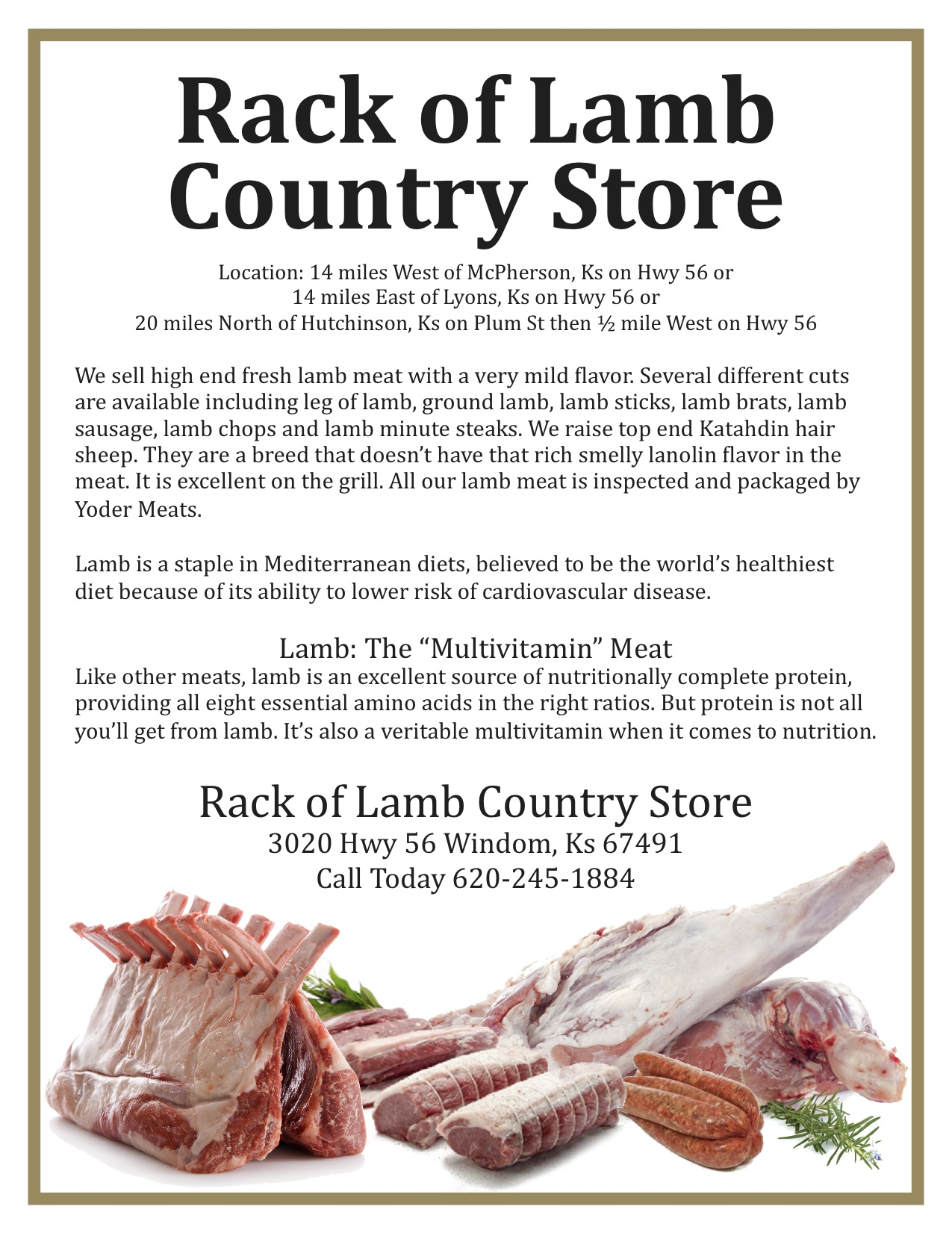 Rack of Lamb Country Store
